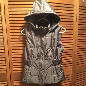 New York & Co. Grey Hooded Vest